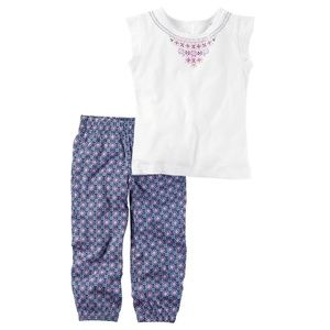 Carter's Puff Print Top and Joggers sizes 4, 5, 8